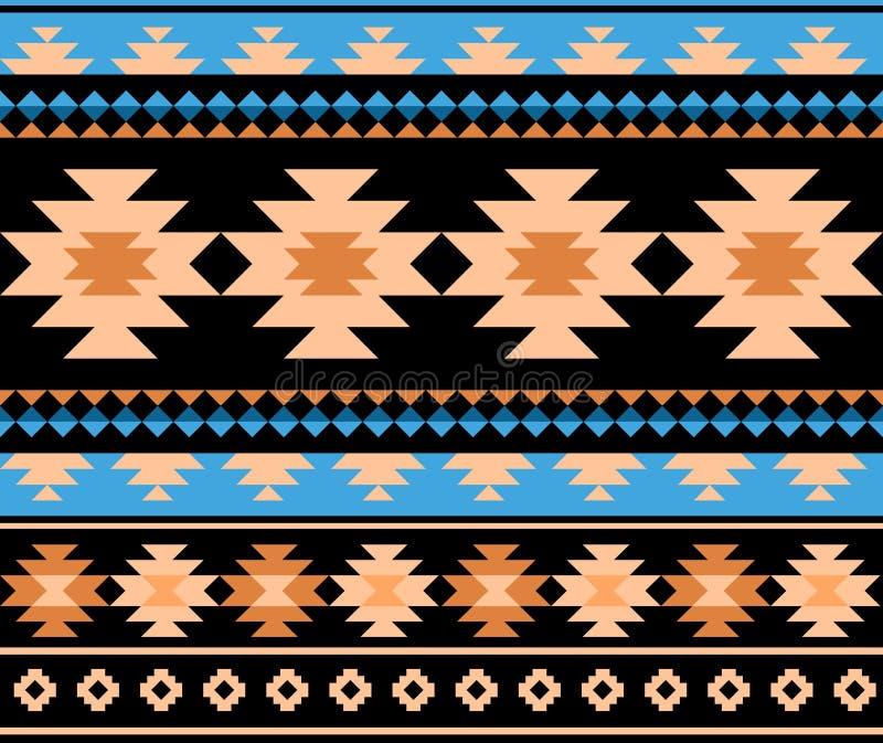 Conception aztèque ethnique sans couture de modèle illustration libre de droits