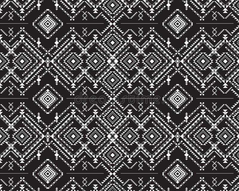 Conception aztèque tribale - éléments ethniques, fond sans couture d'illustration de vecteur illustration de vecteur