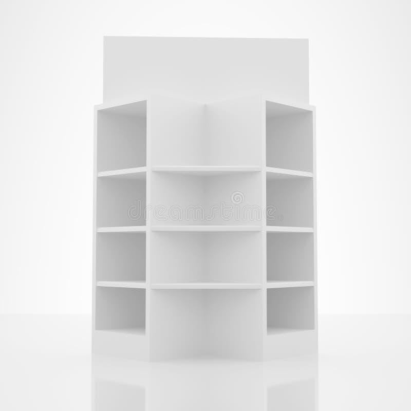 Conception blanche d'étagère de couleur illustration de vecteur