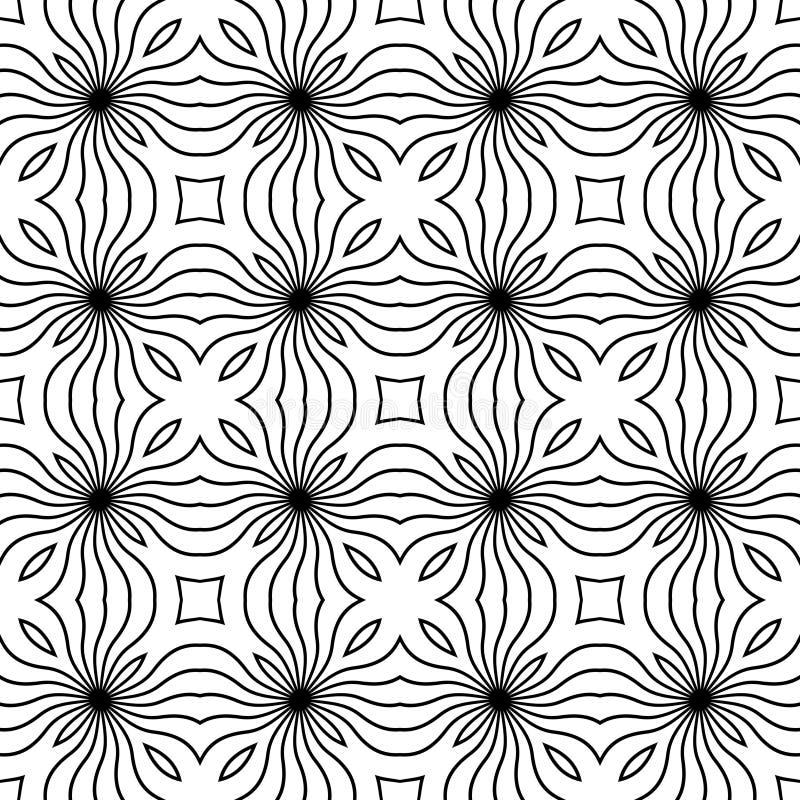 CONCEPTION BLANCHE NOIRE de MODÈLE de vecteur illustration stock