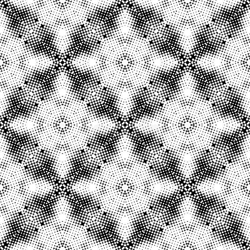 CONCEPTION BLANCHE NOIRE de MODÈLE de vecteur SANS COUTURE illustration de vecteur