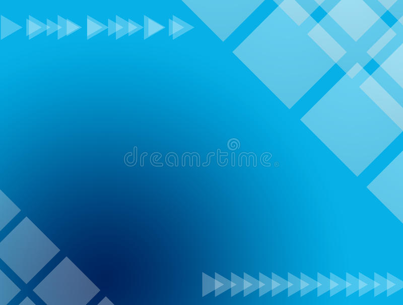 Conception bleue illustration stock