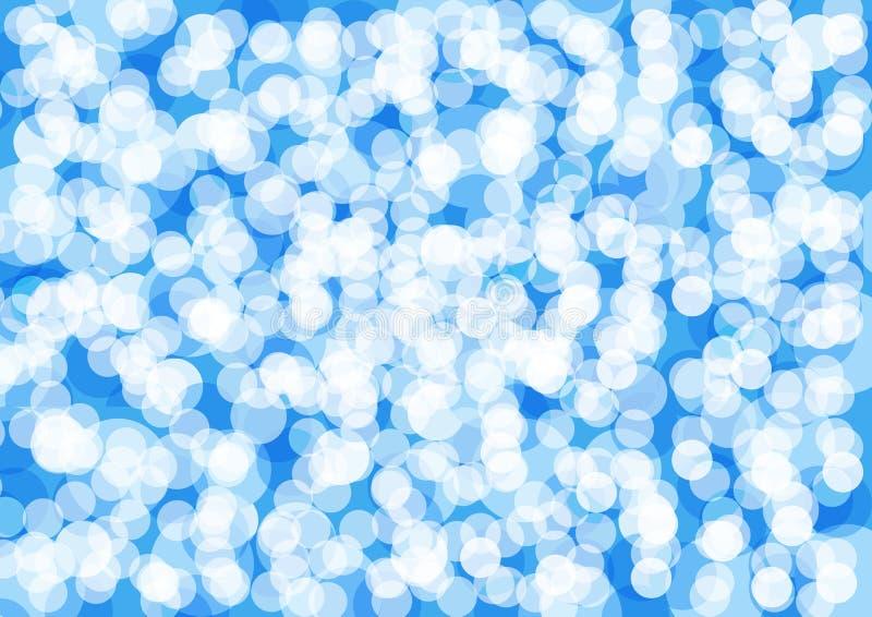 Conception bleue abstraite et briller le baackground bleu de scintillement illustration stock