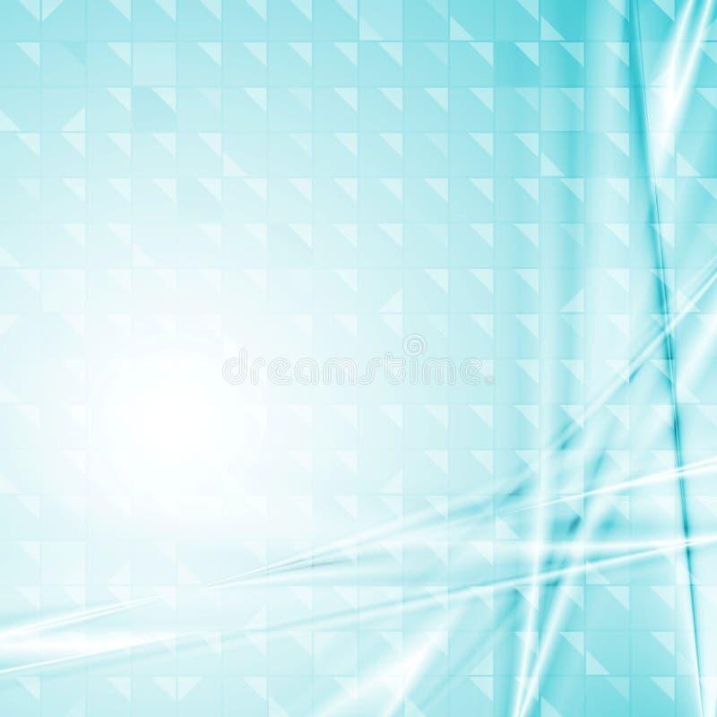 Conception bleue colorée de technologie illustration de vecteur