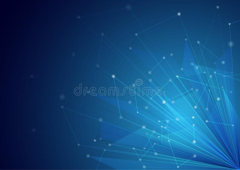 Conception bleue de fond de technologie et d'innovation illustration stock