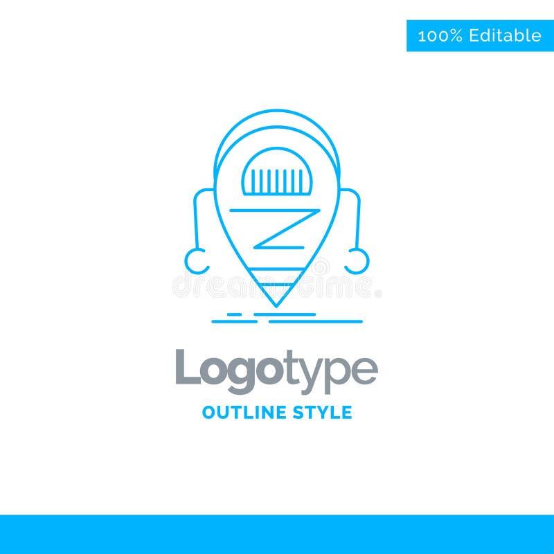 Conception bleue de logo pour Android, bêta, droid, robot, technologie Bu illustration libre de droits