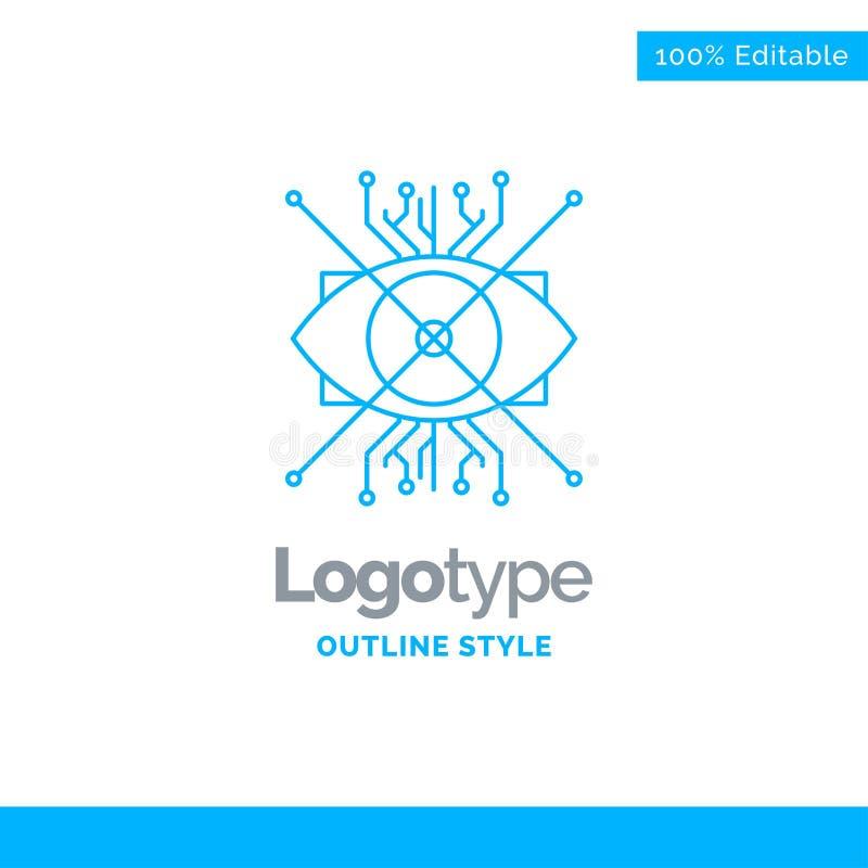 Conception bleue de logo pour l'AR, augmentation, cyber, oeil, lentille Business illustration de vecteur