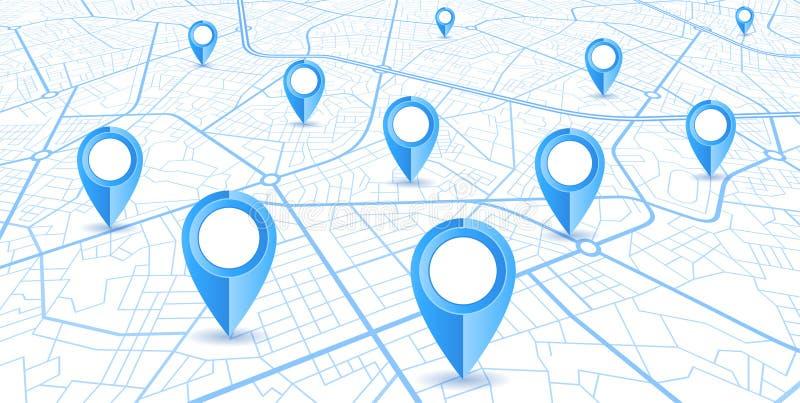 Conception bleue de navigateur de GPS illustration de vecteur