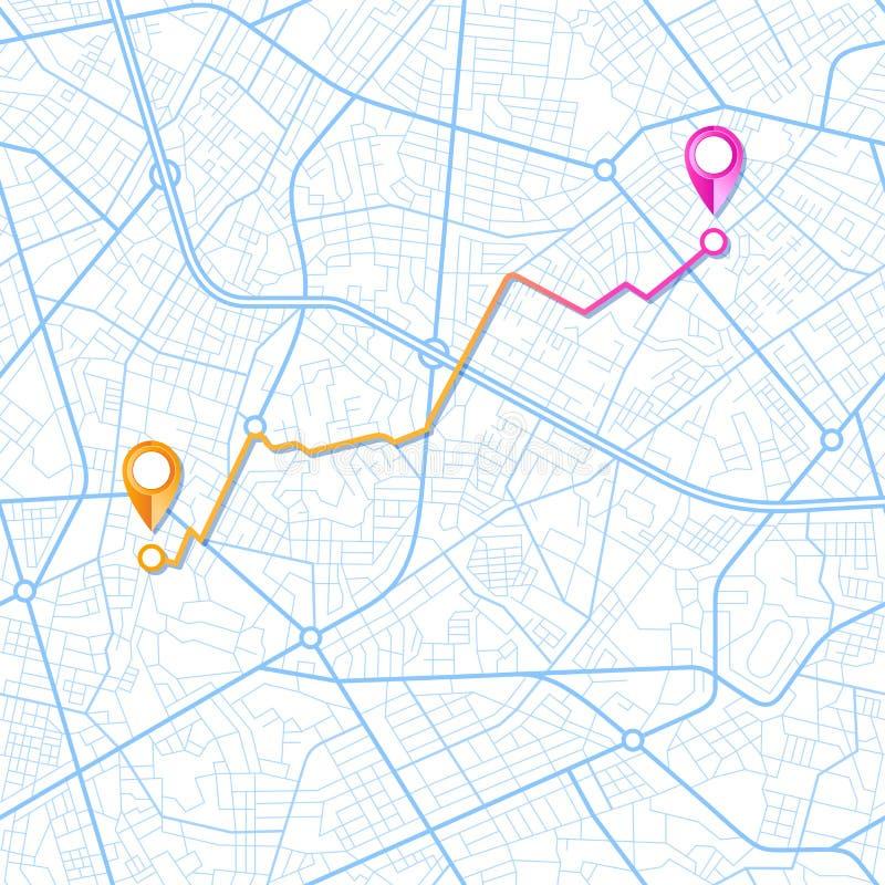 Conception bleue de navigateur de GPS illustration libre de droits