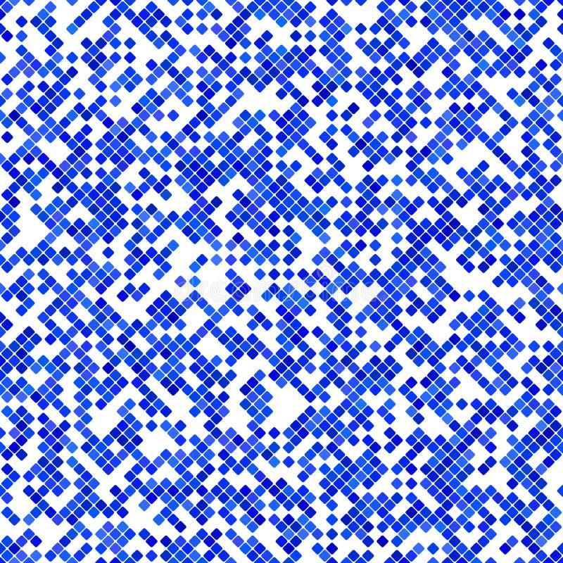 Conception carrée diagonale abstraite bleue de fond de modèle - graphique de vecteur illustration libre de droits