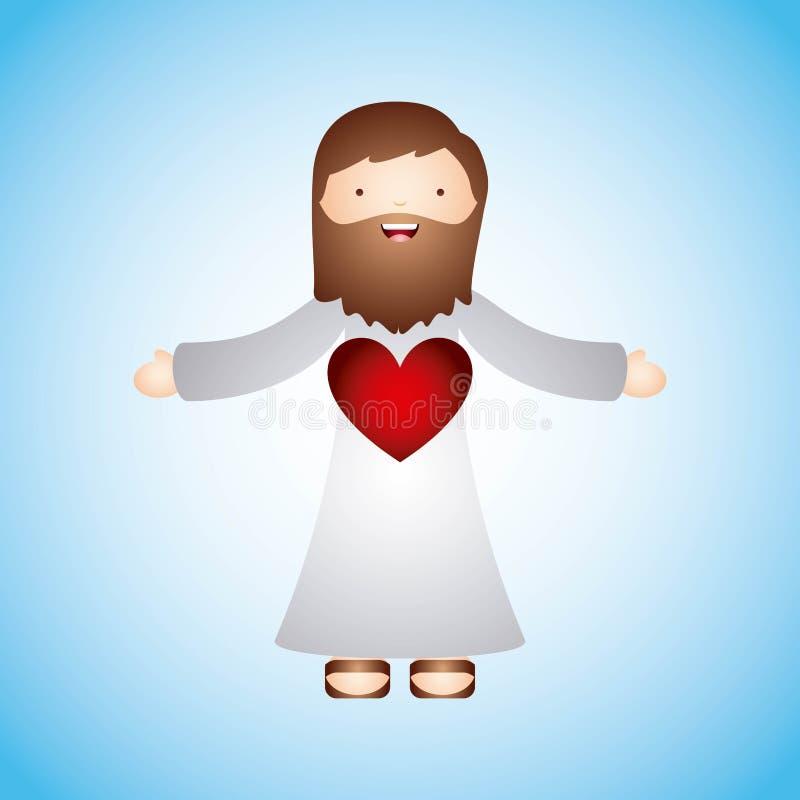 Conception catholique d'amour illustration stock