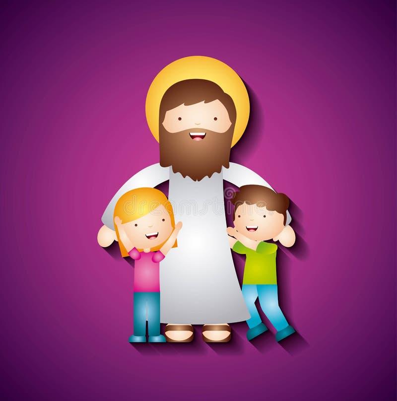 Conception catholique d'amour illustration de vecteur
