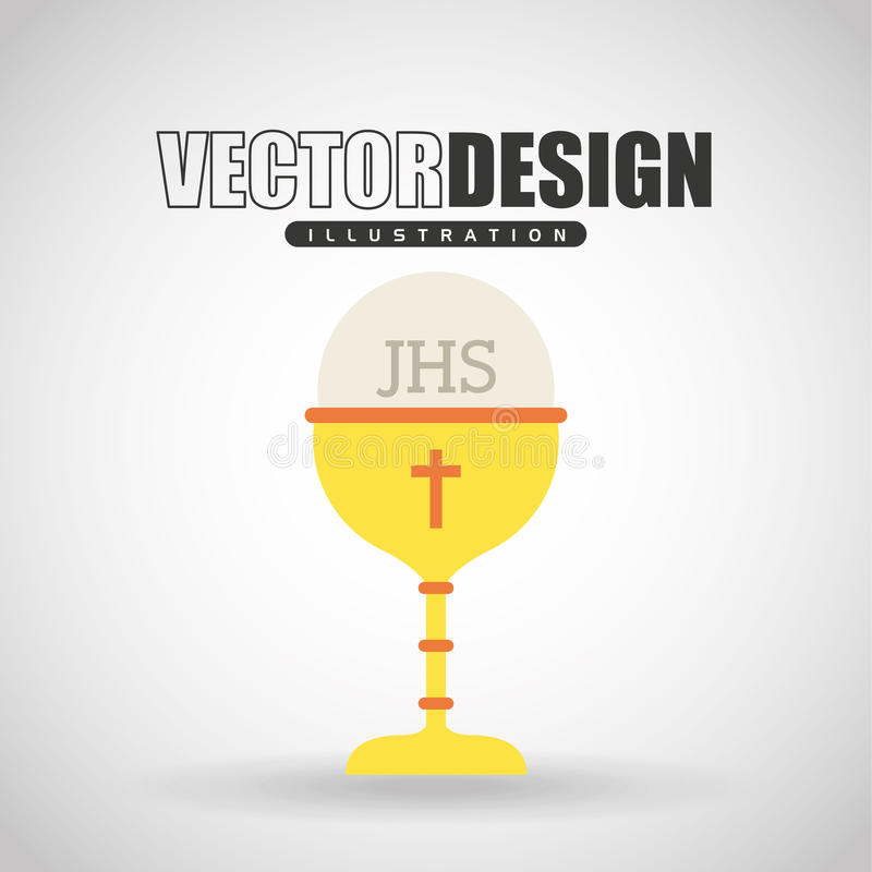conception catholique d'icône illustration stock