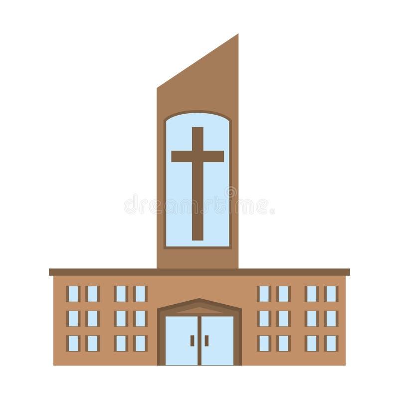 Conception catholique d'icône d'église illustration stock
