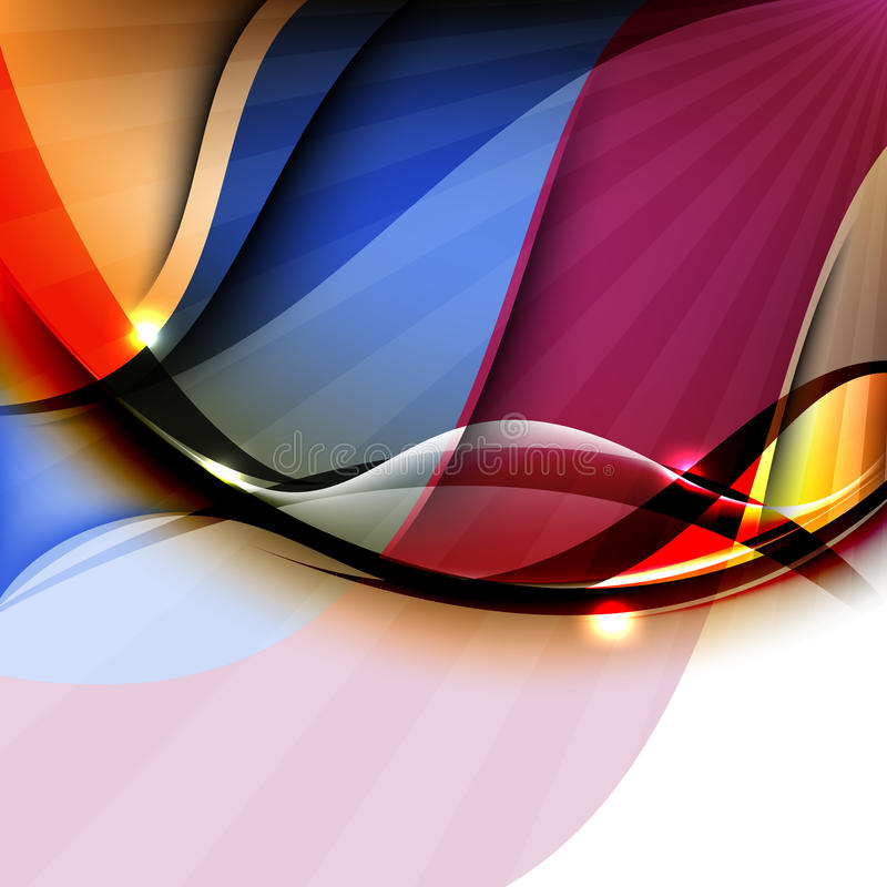 Conception colorée élégante d'abrégé sur onde image libre de droits