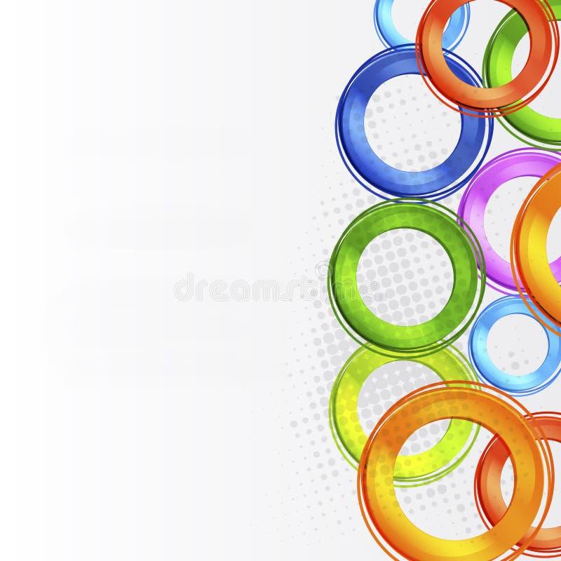Conception colorée abstraite de cercle illustration stock