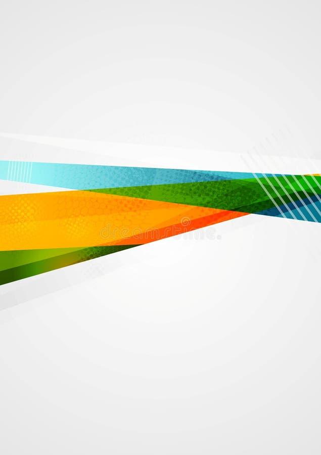 Conception colorée abstraite de formes de la géométrie illustration de vecteur
