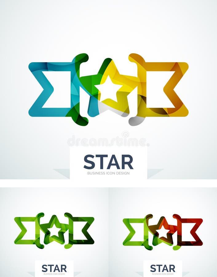 Conception colorée abstraite de logo illustration stock