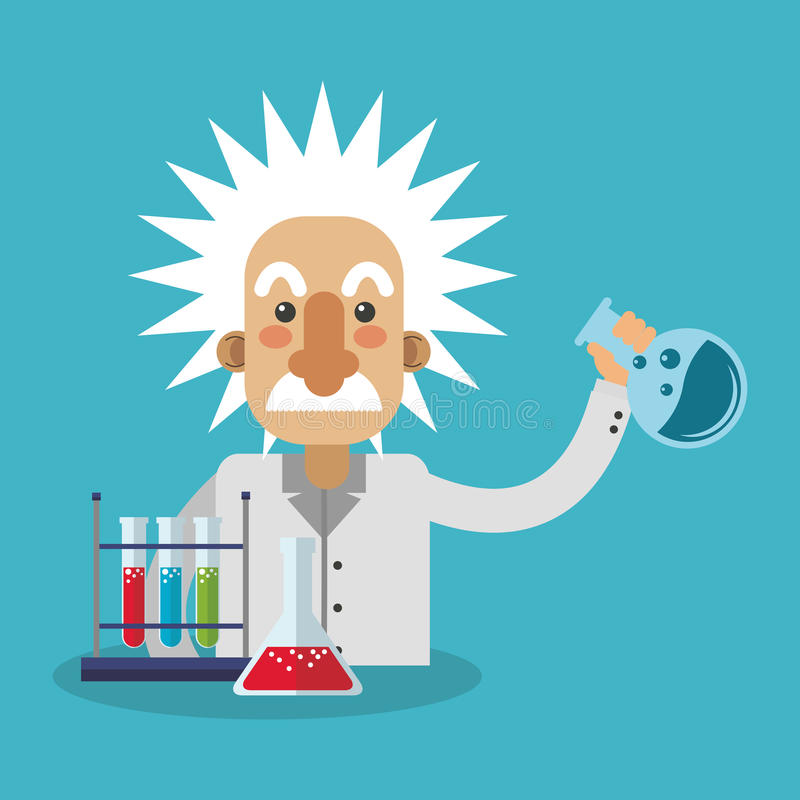 Conception colorée d'Einstein illustration stock