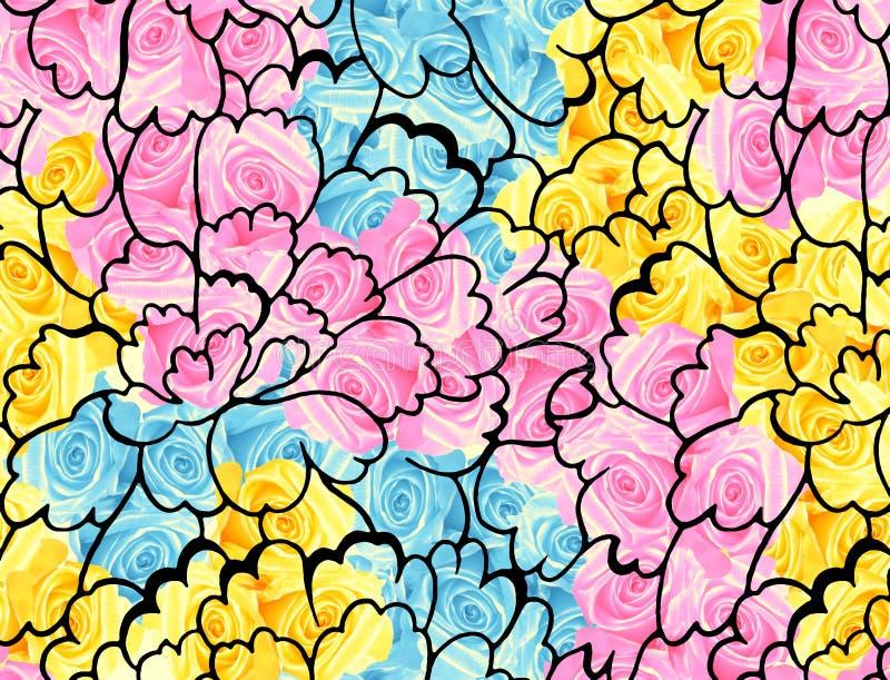 Conception colorée d'impression de fleur illustration stock