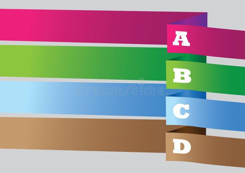 Conception colorée de disposition de fond de vecteur de bannière illustration stock