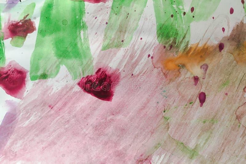 Conception colorée de fond d'aquarelle Texture colorée abstraite d'aquarelle pour la conception graphique photographie stock libre de droits