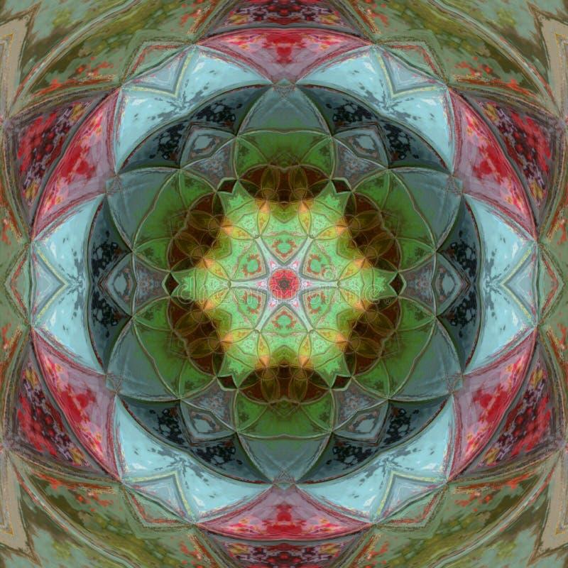 conception colorée de mandala de triangle illustration libre de droits