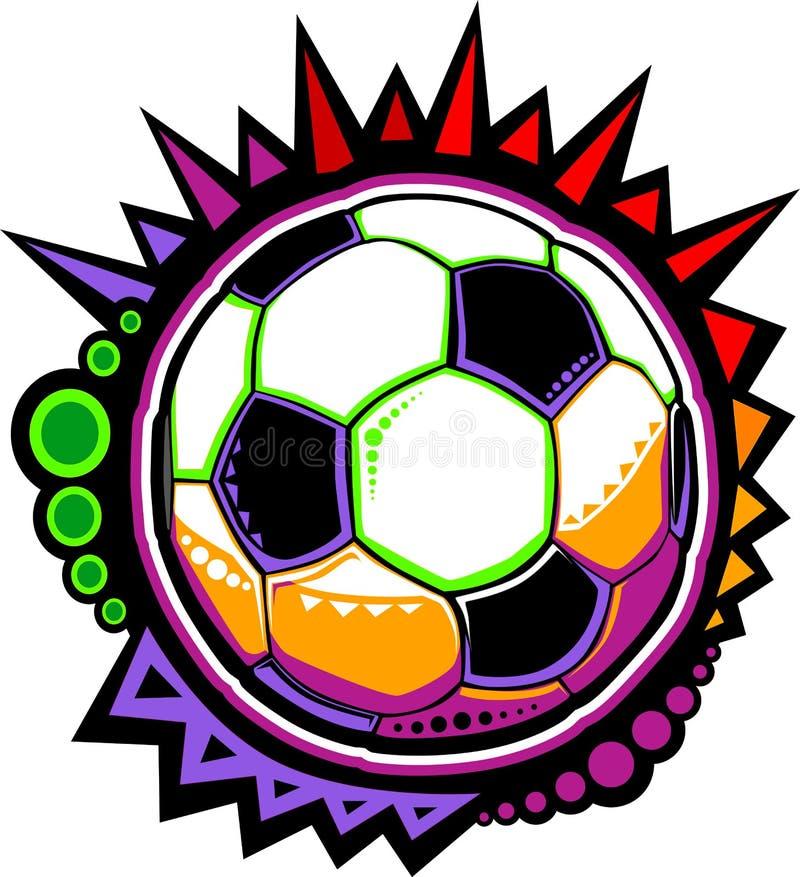 Conception colorée de mosaïque de bille de football illustration stock