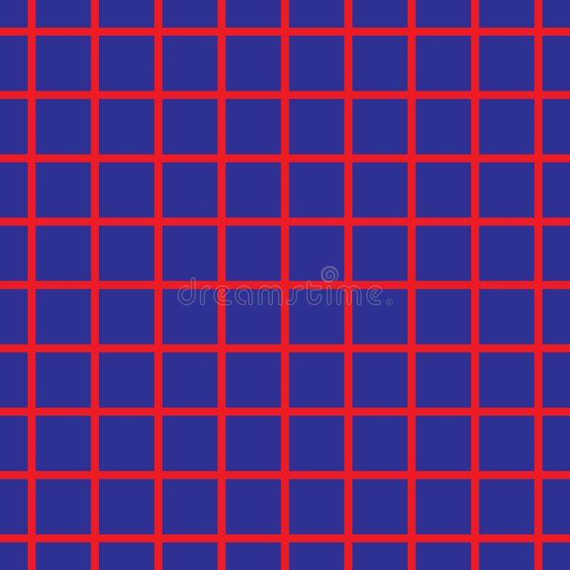 Conception colorée de mosaïque de plaid de vecteur de fond géométrique à carreaux sans couture de modèle faite en cru classique c illustration stock