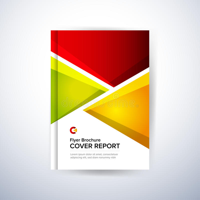 Conception colorée pour la couverture de rapport annuel, insecte, affiche Format de vecteur illustration libre de droits