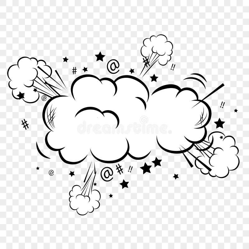 Conception comique de bulles d'art de bruit illustration de vecteur
