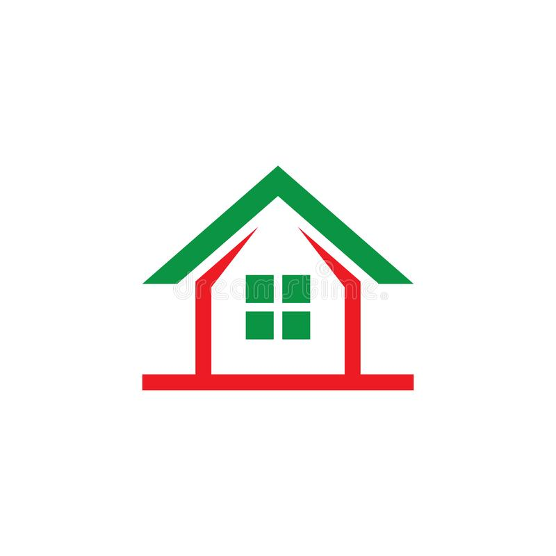 Conception Contruction Company de logo de Chambre illustration stock