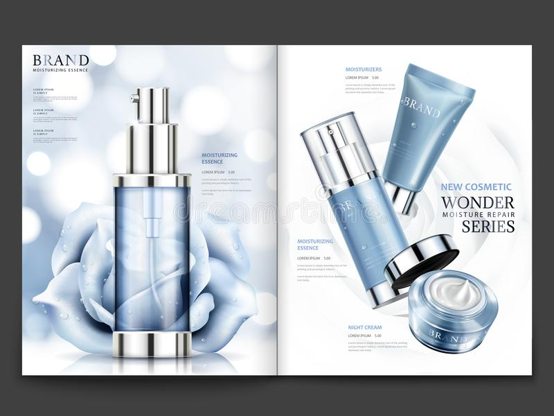 Conception cosmétique de magazine illustration libre de droits