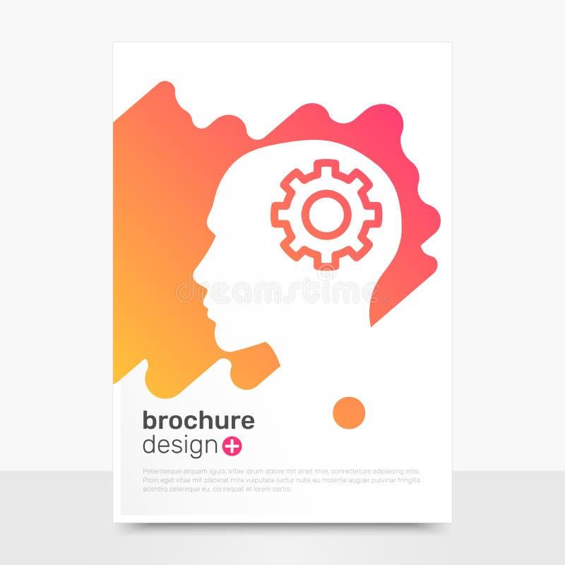 Conception créative de brochure de vecteur Pensez la maquette de fond de brochure Calibres de brochure de profil EPS10 images libres de droits
