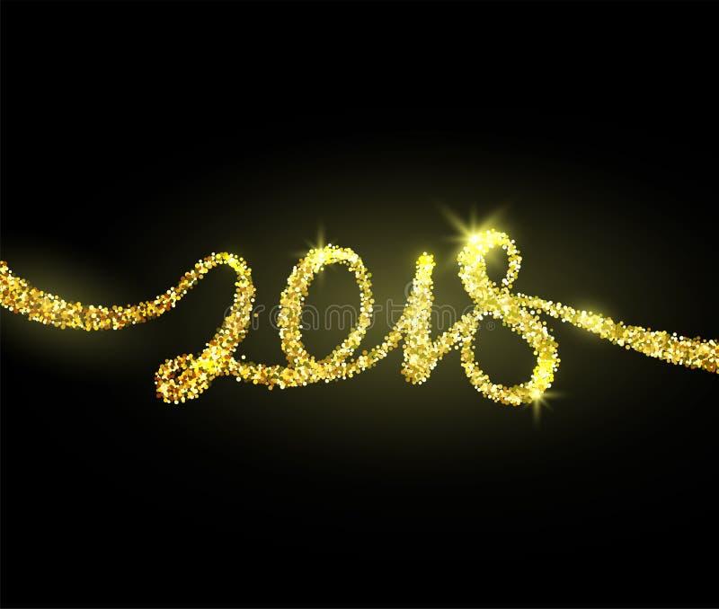 conception créative de fond de la nouvelle année 2018 pour la carte de voeux, bannière illustration de vecteur