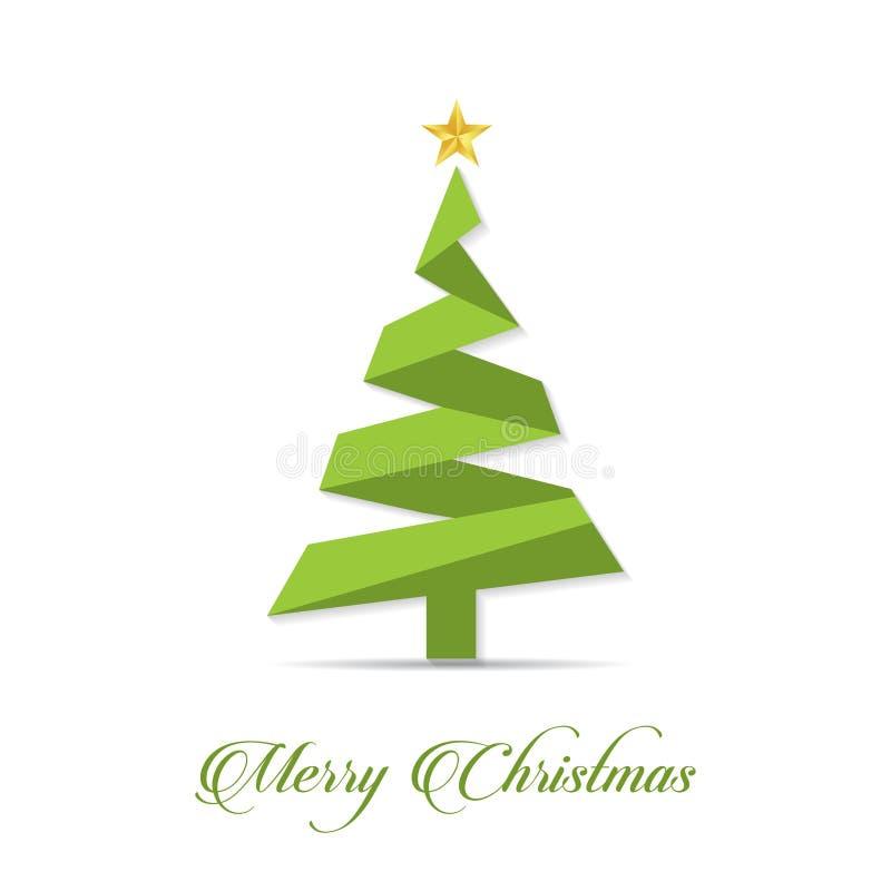 Conception créative de Joyeux Noël avec le vecteur blanc de fond photographie stock libre de droits