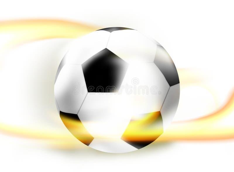 Conception créative de lumière de boule de ballon de football du football illustration stock