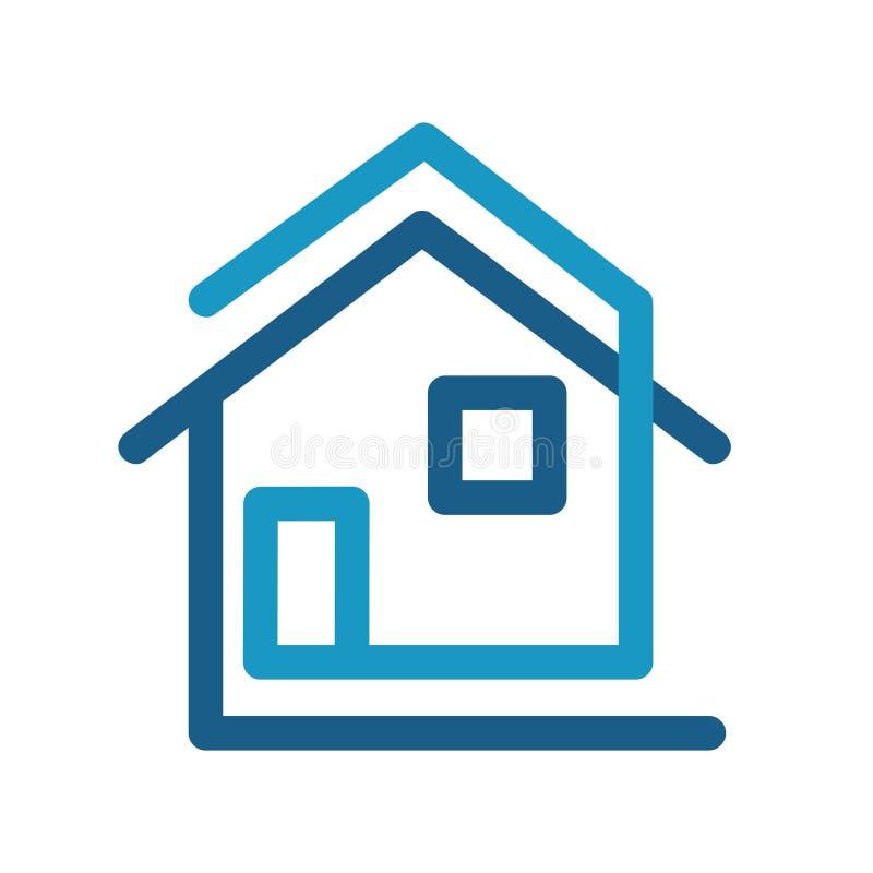 Conception créative de maison d'icône plate moderne de logo, illust courant de vecteur illustration stock
