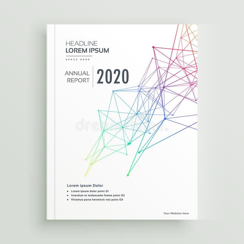 Conception créative de page de couverture de brochure ou de magazine faite avec l'abstra illustration stock