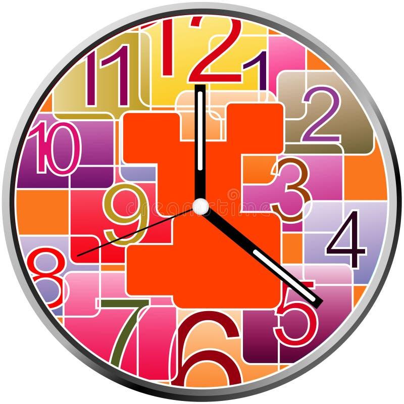 Conception créative de visage d'horloge photographie stock