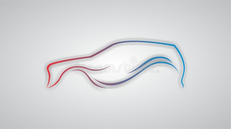Conception/croquis d'abr?g? sur voiture de SUV dans l'illustration de vecteur de courbure illustration stock