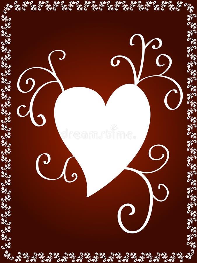 Conception décorative de coeur illustration stock