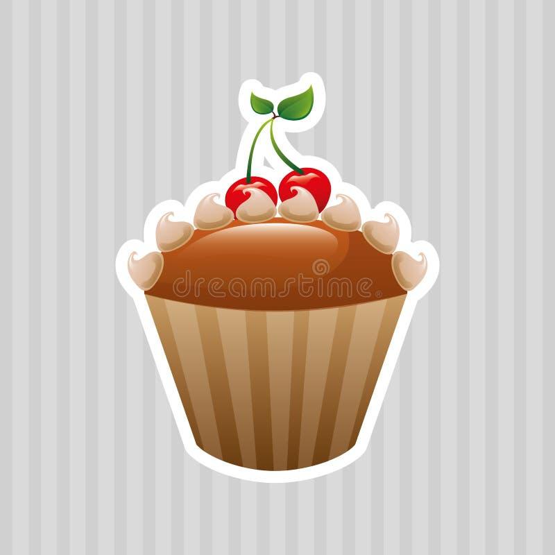 conception délicieuse de boutique de pâtisserie illustration stock