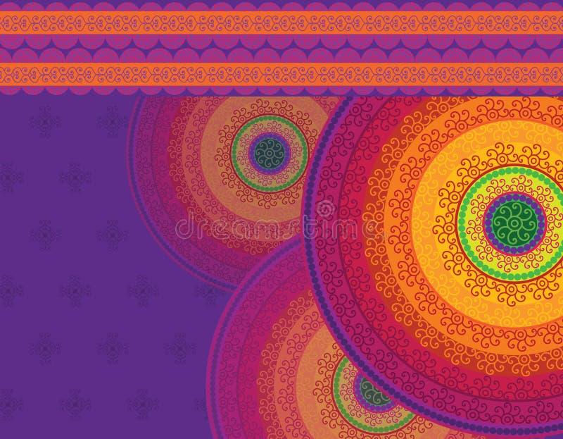 Conception détaillée de mandala illustration libre de droits