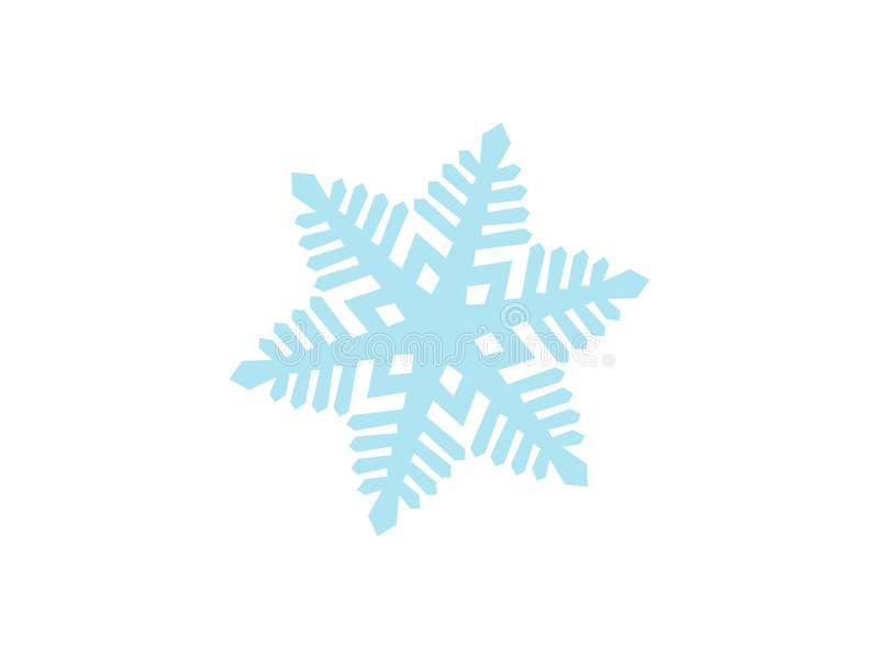 Conception détaillée de vecteur de flocon de neige - temps de vacances en hiver, célébrant un Joyeux Noël illustration libre de droits