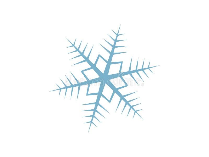Conception détaillée de vecteur de flocon de neige - temps de vacances en hiver, célébrant un Joyeux Noël illustration stock