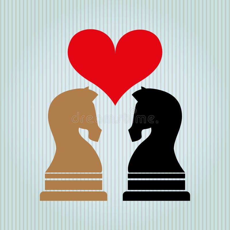 conception d'échecs de cheval illustration stock