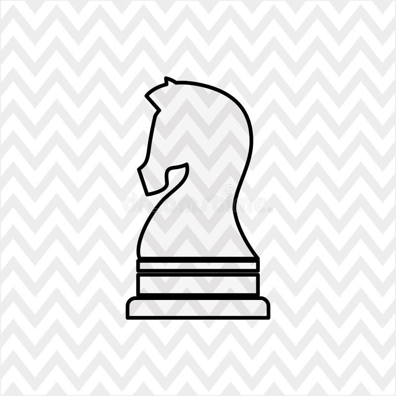 conception d'échecs de cheval illustration de vecteur