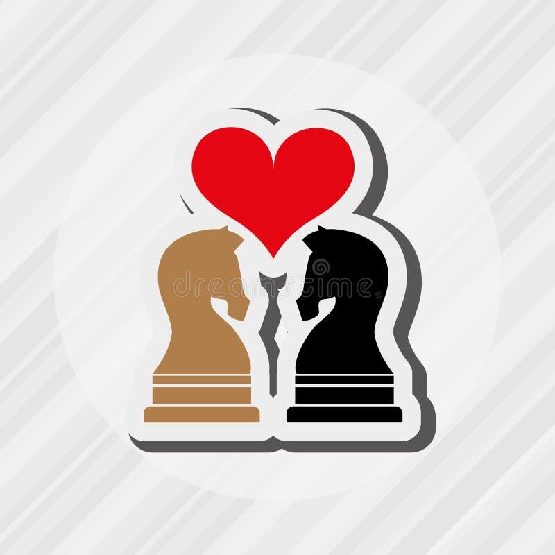 conception d'échecs de cheval illustration libre de droits
