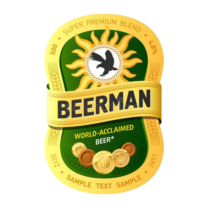 Conception D étiquette De Bière Image libre de droits